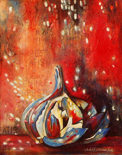 Mavi Sarımsak, 50x40 cm, 2013