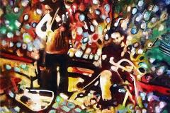 Müzisyenler, 40x40cm, 2015